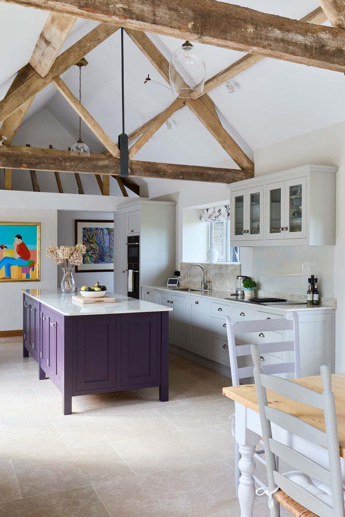 surrey house conversion open kitchen island
